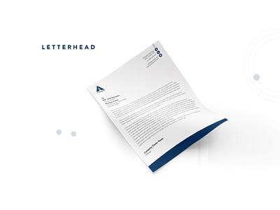 Ananya Travel Agency - Letter Head brand letter head blue letterhead branding travel agency design