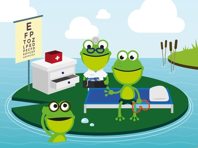 The adventures of Keq #1 kids frog book illustrator vector illustration