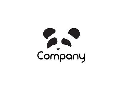 Panda Logo Branding black  white white black simple logo negative space logo negative space symbol symbol icon panda icon panda logo panda simple animal logo animal icon animal logo icon branding