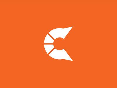 Logo C Simple concept white orange letter c graphic design simple design minimalist alphabate clean design logo branding icon