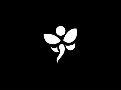 Abstract Icon mature logo nature strong simple icon illustration vector black  white black white simple flower logo plant logo minimalist simple design graphic design logo icon branding