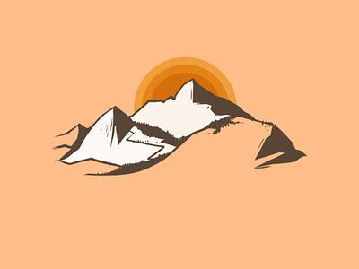 Mountains 1 design website web illustrator minimal flat illustration