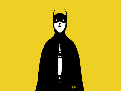 Oscar Rubio Batman ux website web flat design fanart minimal illustration