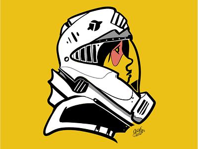 Explorer color character design illustration