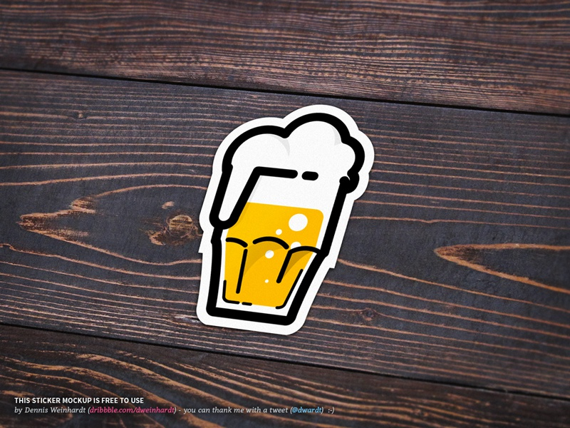 Die Cut Stickers Mockup
