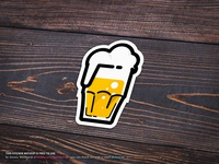 Beer Sticker Mockup