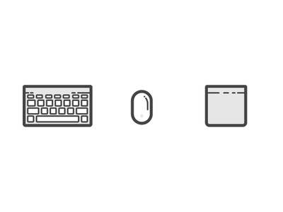 Keyboard Mouse Trackpad vector icons illustrations illos trackpad mouse keyboard