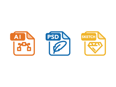 File Types file format vector file extension file types sketch photoshop illustration illustrator ai icon outline