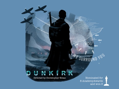 D for movie 'Dunkirk'. typography digital 2017 india illustrator day 4 36daysoftype-d war dunkirk winner movie illustration design type challenge academy awards hollywood graphic design graphic art drawing 36daysoftype