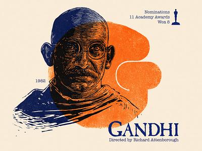 G for movie 'Gandhi'. type portrait design portrait art photoshop typography india type daily digital illustration movie graphic art academy awards type challenge public gandhi hollywood graphic design woodcut 36daysoftype drawing
