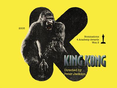 K for movie 'King Kong'. type photoshop gorilla winner typography type art digital type daily jack black peter jackson kingkong academy awards type challenge movie illustration hollywood graphic design graphic art 36daysoftype drawing