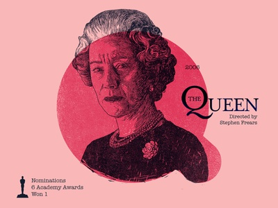 Q for movie 'The Queen'. british princess of wales helen mirren portrait woodcut typography india type photoshop type daily digital academy awards type challenge movie illustration hollywood graphic design graphic art 36daysoftype drawing