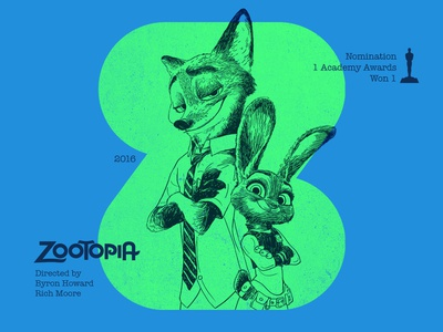 Z for movie 'Zootopia'. woodcut portrait art animation zootopia portrait india typography type photoshop type daily type challenge digital academy awards movie illustration hollywood graphic design graphic art 36daysoftype drawing
