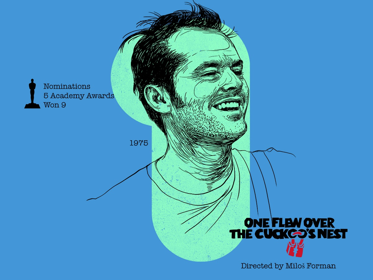 1 for movie 'One Flew Over The Cuckoo's Nest'. type typography type art portrait art woodcut portrait photoshop type daily type challenge digital academy awards movie illustration hollywood graphic design graphic art 36daysoftype drawing jack nicholson one flew over the cuckoos nest