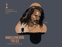 4 for movie 'Born on the Fourth of July'.