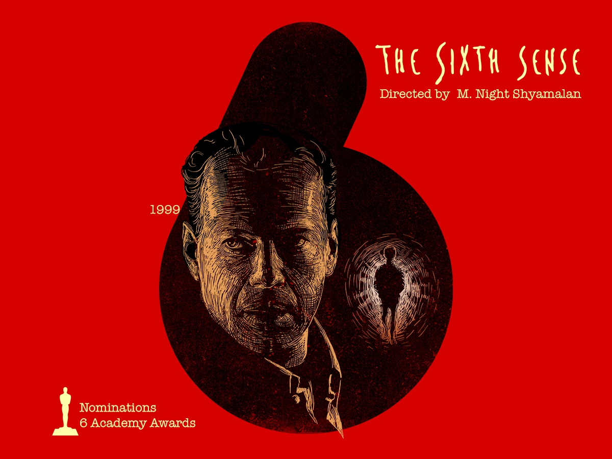 6 for movie 'The Sixth Sense'  by Nirav Khant on Dribbble