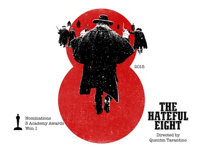8 for movie 'The Hateful Eight'. the hateful eight design type art winner samuel jackson quentin tarantino typography type photoshop type daily type challenge digital academy awards movie illustration hollywood graphic design graphic art 36daysoftype drawing