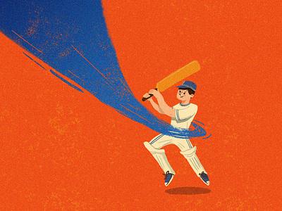 Detail - Cricketer art washing soap orange kids kid hygiene healthy handwash hand cricketer cricket clean illustration children bubble blue
