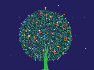 Christmas Tree for Mother Earth merry christmas amazon happiness illustraion ecofriendly blue green santa save save earth ecosystem kindle gift nature earth mother earth mother tree christmas tree christmas