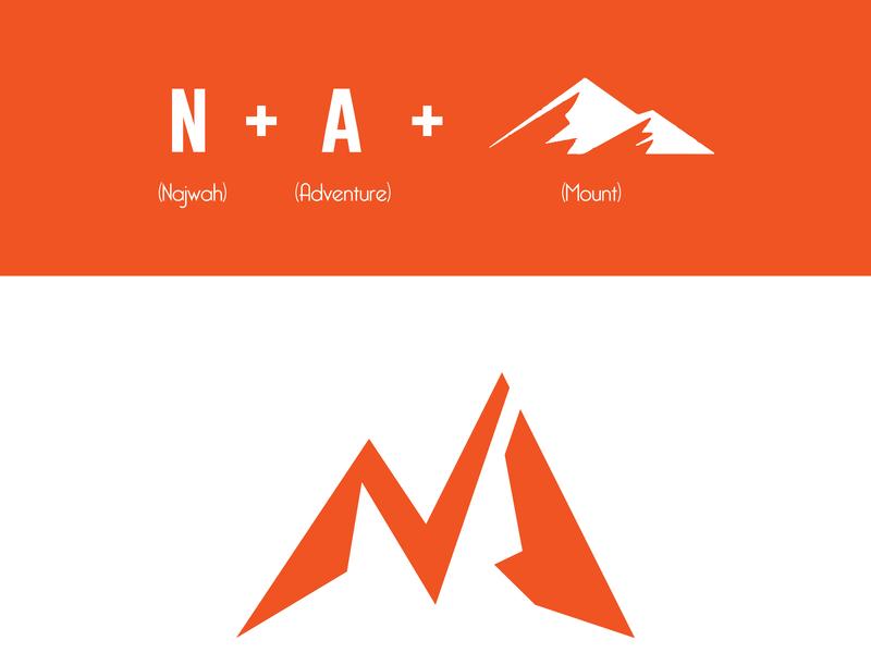 NAJWAH CONCEPT logo concept outdoor na logo nature initial logo concepts mountain mount