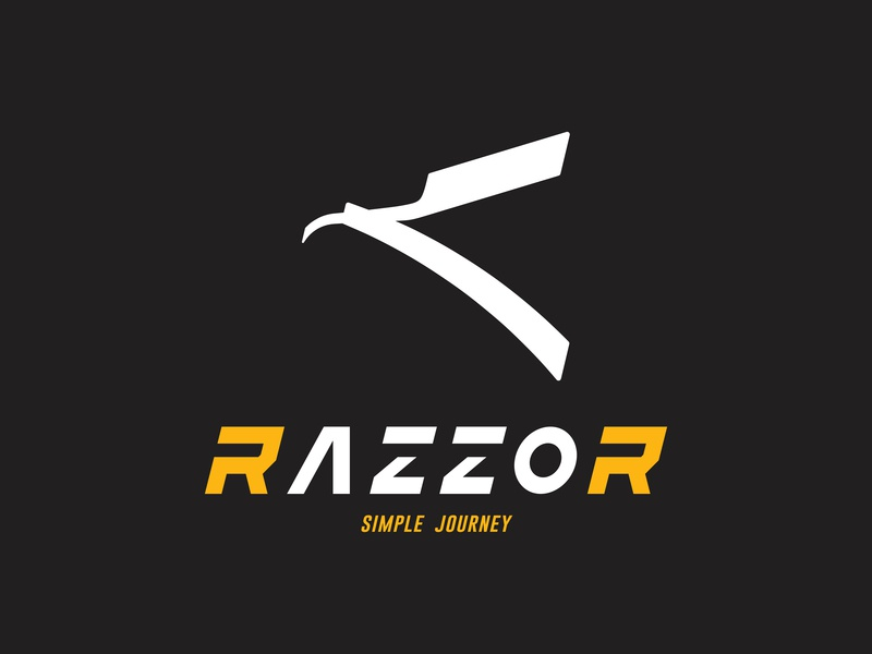 RAZZOR adventure menu typeface logotype razor journey outdoor logo