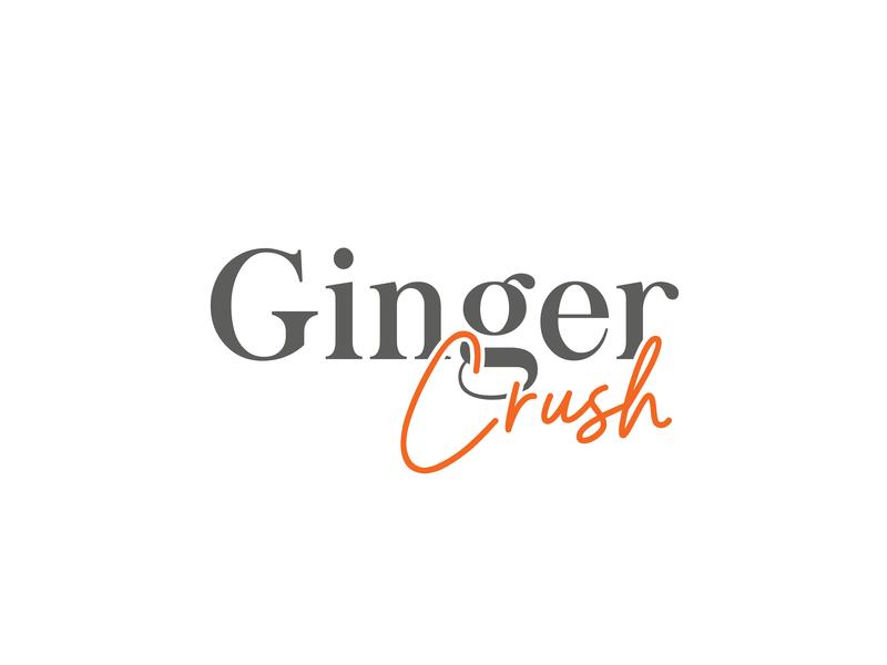 GINGER CRUSH lipstick brand lettering logo design ginger logo womenlogo cosmetic logo logotype