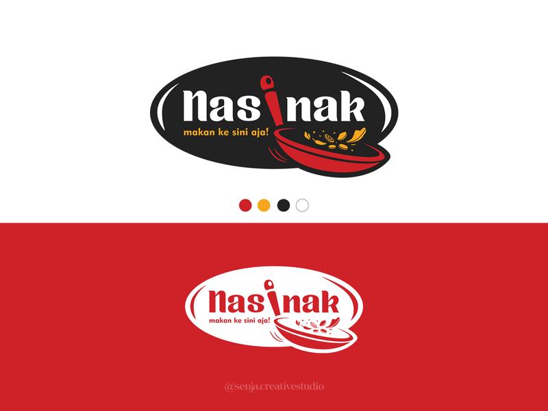 NASINAK chef food logo logo design branding logotype wok pan pan foodie restaurant food