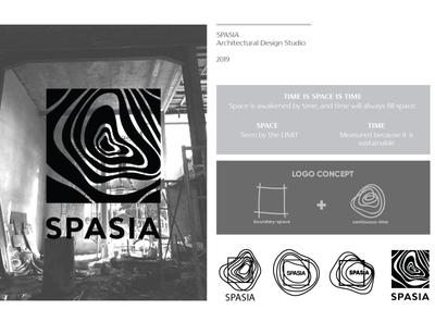 SPASIA branding logo design studio design wood age wood black time space studio architecture logo architecture