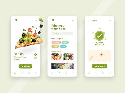 Order Food buy order foodie payment menu map application food clean ui dribbble mobile app playstore ux ui concept app design