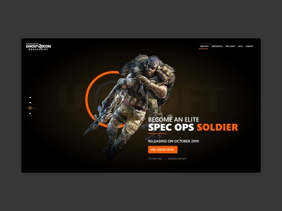 Tom Clancy's Ghost Recon Landing Page