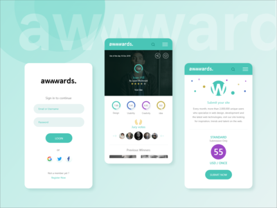awwwards android app concept