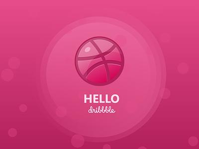 hello dribbble vector logo illstration hello hello dribble dribbble design