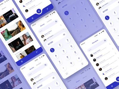 mobile ui concept design gallery messenger dialpad vector illustration clean ui mobile app playstore ux ui concept app design