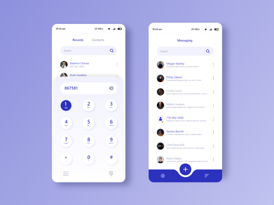mobile ui concept list call message dribbble dialpad vector clean ui mobile app playstore ux ui concept app design