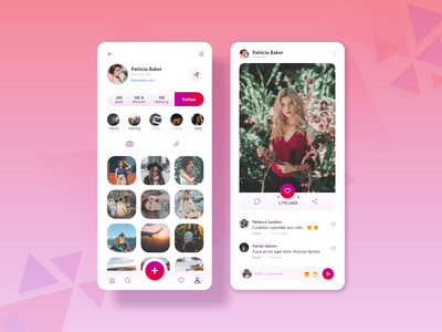 Instagram Redesign Visual Concept dribbble playstore vector photo profile model concept uiux clean ui design interface instagram gallery flat fashion comment color clean app account