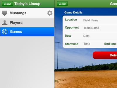 Yesterday's Lineup ipad baseball