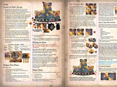 Dead Men Tell No Tales Rulebook pirates rulebook manual boardgame dead men tell no tales layout indesign