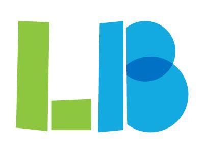 LB geofont multiply vector rough logotype