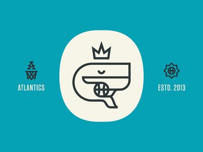 SPORTS basketball logo whale atlantics tungsten identity sports