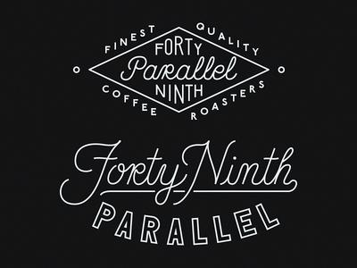 49th Parallel lettering script monoline
