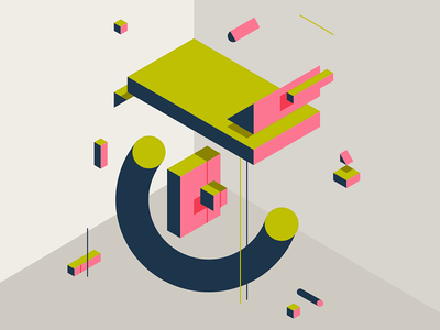 TYPEFIGHT lettering t typefight isometric