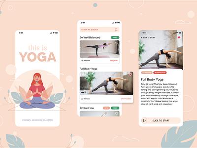 Yoga mobileapp uidesign ui