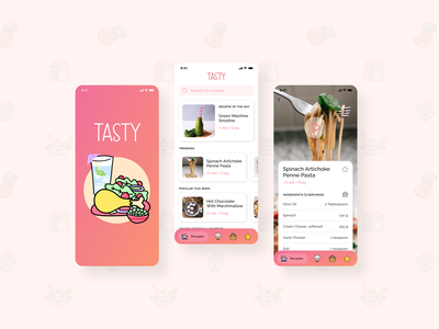 Tasty app ui design mobile design mobile app mobile ui ui