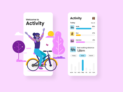 Activity sport mobile app mobile app design mobile ui ui design ui