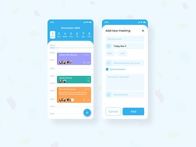 Simple Mobile Calendar calendar ui uidesign mobile app mobile app design mobile ui