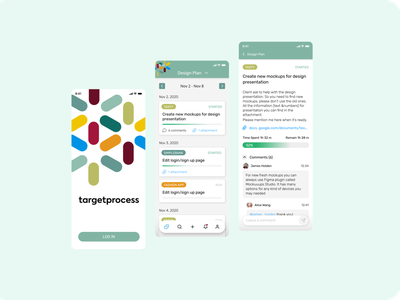 Some ideas for TargetProcess mobile design mobile app mobile ui