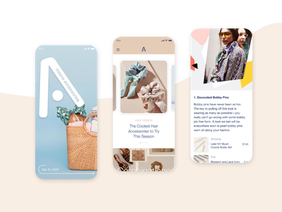 Fashion App Concept accessories fashion app ui design