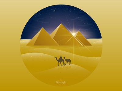The Great Pyramid of Giza travel landmark giza dessert egypt pyramid culture illustration glow design vector