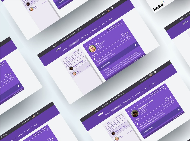 Recruiter Software Candidate Page | UI/UX Design | Redesign | type art website minimal behance youtube animation casestudy ux branding web ui
