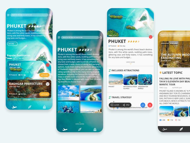 Travel App 应用 ux ui travel plan travel app travel mobile application homepage